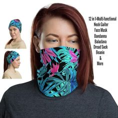 12 in 1 Multi-functional Neck Gaiter / Face Mask – protects against the sun providing a cooling effect on hot days too! Came and check! Our Etsy Shop has over 400 Gaiters to choose! Etsy HelsinkiFashionVibes Fashion Neck Gaiters #adultsgaiter #balaclava #festivalgaiter #stylishgaiters #womenfacemask #womengaiter #flowersgaiterneck #neckgators #neckbuff #sunprotection #summerfacemask #festivalfacemask #scarf #beanie #floralfacemask #flowersfacemask #bandana #headband #facemask #facecovering Black Neck, Half Face Mask, Red Bandana, Bohemian Design, Fashion Face Mask, Head Wraps, Hair Band, Balaclava, Hot Days