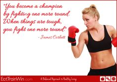 Champions are made by fighting, not quitting