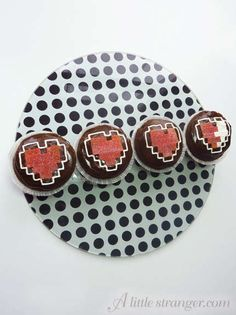 Instructable Heart Container Cupcakes from Zelda