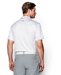 Under Armour Mens UA coldblack® Tip Polo Medium White
