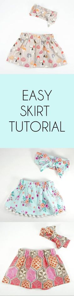 Sew Jersey Mama | Sewing diy for the littles Easy Free Skirt Tutorial | Sewing Tutorial | DIY Sewing | Skirt Pattern | Girls Skirt DIY | Girls Clothes | Baby Clothes