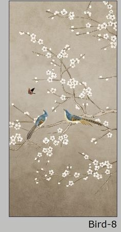 Online Shop custom size window film for glass door wardrobe home decor Opaque frosted static cling Birds Silk Wallpaper, Chinoiserie Wallpaper, Home Wallpaper, Glass Film Design, Small Canvas Art, Peacock Art, Hand Embroidery Designs, Wall Art Designs, Fabric Painting