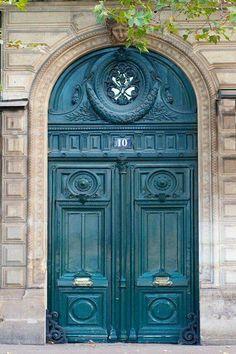 wall Architecture Paris France - Paris Photograph Number 10 Rue de Rivoli, Architectural Fine Art Photo, Parisian Home Decor, Wall Art. Cool Doors, The Doors, Unique Doors, Windows And Doors, Front Doors, Panel Doors, Grand Entrance, Entrance Doors, Doorway
