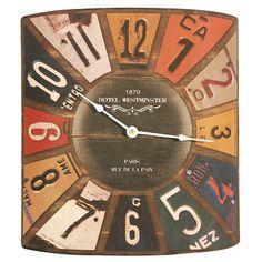 ACHICA | Artisanti Iron State Plate Wall Clock
