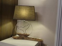 Deco lamp in driftwood - Wood Decora la Maison Homemade Face Masks, Used Iphone, Make Money From Home, Building A House, Driftwood Lamp, Table Lamp, Lighting, Home Decor, Beautiful