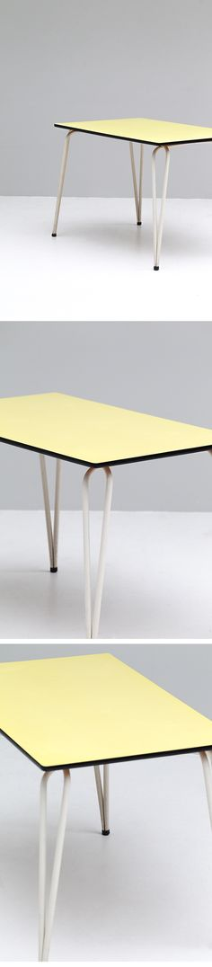1960s, Yellow, formica, Kitchen, table