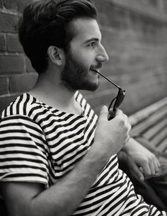 stripes striped shirt beard style fashion men hair beard streetstyle tumblr