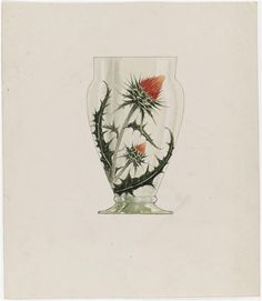 Emile Gallé ; vase au chardon. Musée d'Orsay.