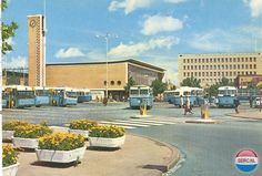 Stationsplein Eindhoven (jaartal: 1960 tot 1970) - Foto's SERC Eindhoven, Amsterdam, Facade, Dutch, Street View, Mansions, History, House Styles, City