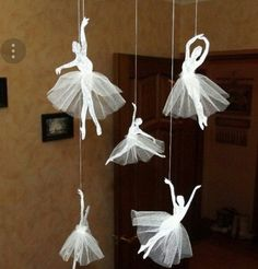 How to make a ballerina from paper with your own hands. Cutting a ballerina from paper on a pattern DIY White Christmas Decorations for the Home Diy Home Crafts, Diy Arts And Crafts, Creative Crafts, Fun Crafts, Crafts For Kids, Simple Crafts, Kids Diy, Ballet Crafts, Diy Paper