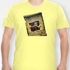 Monkey Island - WANTED! Spiffy, the Scumm Bar dog T-shirt by Sberla - $18.00