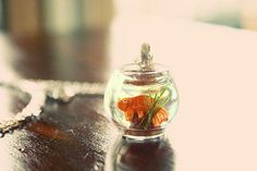 Goldfish in a bowl necklace by lepetitebonbon on Etsy, $25.00