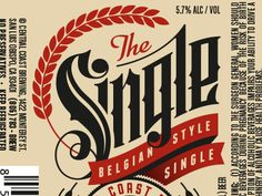 The Single - Central Coast Brewing Co. Beer Label by Scott Greci