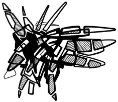 #2006 #abstractart #artabstrait #indianInk #encredechine #dessin #drawing #black #noir #marqueur #feutre #stylo #marker #pen #blackandwhite #futurist #mechanical #handdrawn #faitmain // 25-002