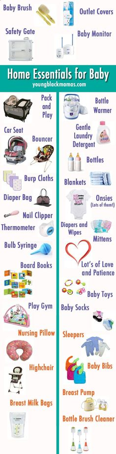 Home Essentials for Baby {Infograph - Baby Stuff Weekly
