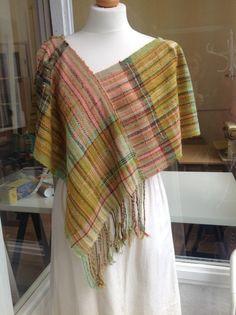 Poncho top. Silk yarn from Japan supplied by www.saorimor.co.uk
