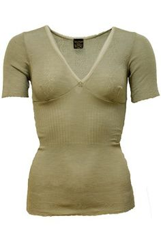 Lace T-Top Pure Merino Silk Oliven Norway, Pure Products, Silk, Lace, Shopping, Tops, Women, Fashion, Olives