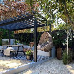 Backyard Seating, Backyard Patio Designs, Outdoor Pergola, Backyard Landscaping, Patio Ideas, Small Pergola, Backyard Pools, Outdoor Decor, Outdoor Patio Flooring Ideas