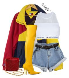 """Untitled #633"" by iamtaecarter ❤ liked on Polyvore featuring Tommy Hilfiger, Balenciaga and Chanel"