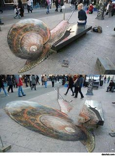 3D street art. I can't get over how awesome this looks.
