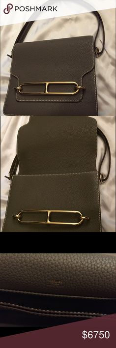 Hermes Roulis Clemence Etain Shoulder Bag Like new condition Hermes Clemence Roulis in Gold hardware. Comes complete set! Price negotiable due to unexpected financial costs. Thanks Hermes Bags Shoulder Bags