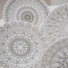 Silver pattern plates