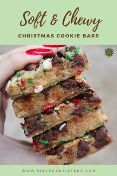 VEGAN CHRISTMAS COOKIES These soft, buttery cookie bars are sure to be a hit with your family and friends this holiday season! Plus, they're so easy to make festive with a dash of sprinkles! Dessert Party, Oreo Dessert, Party Desserts, Pumpkin Dessert, Winter Desserts, Fun Holiday Desserts, Holiday Recipes, Easter Recipes, Dinner Recipes