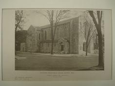 Exterior of the Redeemer Presbyterian Church , Detroit, MI, 1926, George D. Mason & Co.