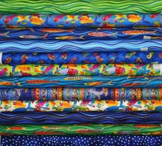 Clothworks Laurel Burch Sea Spirits Fat Quarters