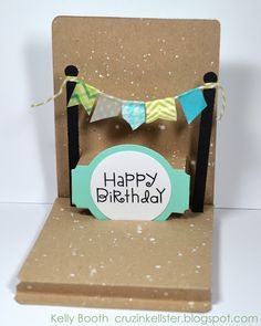 Pop n Cuts Floating Floor Birthday Card ( with tutorial and link to floating floor template)