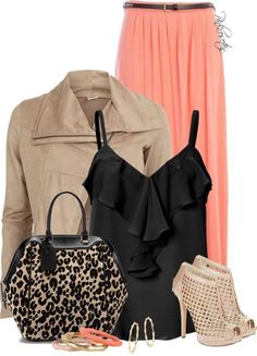 Image result for Summer Outfits Maxi Skirt