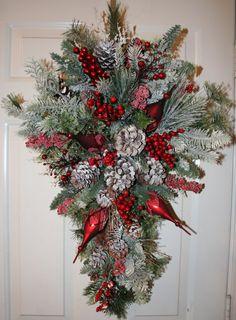 Christmas Holiday Swag by ShadesOfTheSeasons on Etsy, $72.00