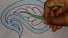 Hand embroidery new nakshi kantha flower stitch Kurti Embroidery Design, Sashiko Embroidery, Embroidery Flowers Pattern, Modern Embroidery, Beaded Embroidery, Hand Embroidery Videos, Hand Embroidery Stitches, Embroidery Patches, Hand Embroidery Designs