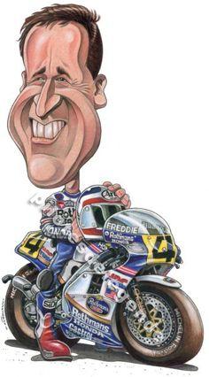 Caricature de pilote. Photos de sport auto. - Page 4 Cafe Racer Motorcycle, Moto Bike, Motorcycle Art, Bike Art, Funny Caricatures, Celebrity Caricatures, Cartoon Faces, Cartoon Art, Valentino Rossi