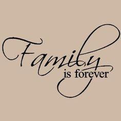 Family Is Forever vinyl lettering wall art saying home decor