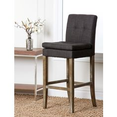 Abbyson Living Colin Grey Linen Bar Stool - Overstock™ Shopping - Great Deals on Abbyson Living Bar Stools