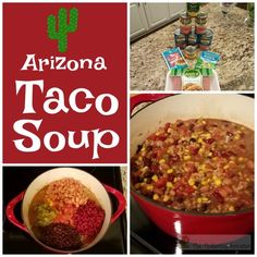 This Arizona Taco Soup is a hearty and healthy meal made with turkey and three different kinds of beans. It will become a family favorite.