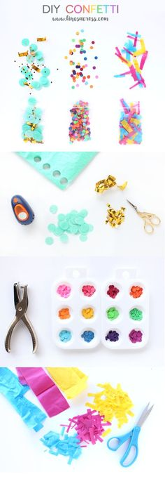 DIY Confetti - Make your own confetti out of leftover scraps of paper, ribbon, etc... #sweepthemess #ad