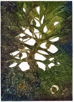 Sue Lowe, 'Life web', collagraph print, edition of 10.