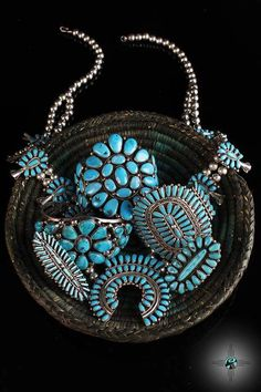 Native American Turquoise Cluster Jewelry