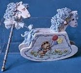 Creatief in Mini's: Child's Painted Rocking Horse and Hobby Horse Dollhouse Toys, Horse Supplies, Hobby Horse, Painting For Kids, Nursery Room, Minis, Miniatures, Horses, Rock