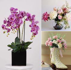 Beautiful Artificial Silk Flower Arrangements For Home Decor Fake Flowers