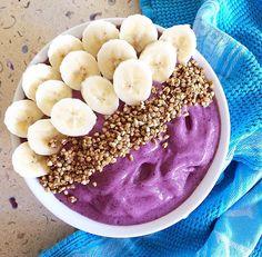 Over night oatmeal (1egg, 1,5dl milk, ½dl oatmeal flakes, 2tbsp chiaseeds, 1dl blueberries, 1tsp honey). + A banana on top.