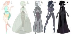 Pearlsona Challange (CLOSED) by mojoromo on DeviantArt Steven Universe Drawing, Pearl Steven Universe, Lapidot, Two Piece Dress, Art Model, Queen Bees, Batwing Sleeve, Character Design, Character Reference