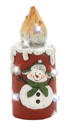 Lovable Led Snowman Candle