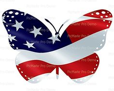 12 Sheet  American Flag Butterfly Birthday  Edible CakeCupcake Topper -- Details can be found by clicking on the image.(This is an Amazon affiliate link)