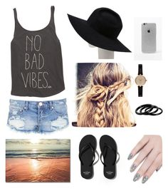 """Take a walk at beach"" by xnsaftma on Polyvore featuring One Teaspoon, Billabong, Abercrombie & Fitch, Gladys Tamez Millinery, LA: Hearts, Barbour, Furla and ncLA"