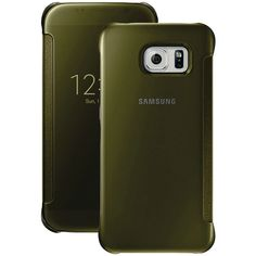 Samsung Samsung Galaxy S 6 S-view Flip Cover (clear And Gold)