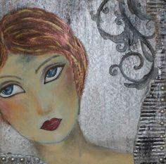 Beautiful Faces - Gesichter malen - Buchvorstellung und Bilder gearbeitet nach Jane Davenport - Idee und Umsetzung Daniela und Frank Rogall