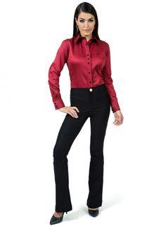 24 melhores imagens de Camisa Social Feminina Lisa  84a3523e4b46b